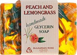 """Parfumuri și produse cosmetice Săpun de glicerină """"Piersic și lemongrass"""" - Bulgarian Rose Peach & Lemongrass Soap"""