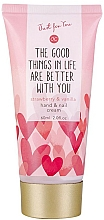 """Parfumuri și produse cosmetice Cremă pentru mâini și unghii """"Căpșună și vanilie""""  - Accentra Just for You Strawberry & Vanilla Hand & Nail Cream"""