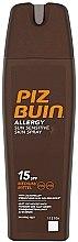 Parfumuri și produse cosmetice Spray de corp, cu protecție solară - Piz Buin Allergy Sun Sensitive Skin Spray SPF15