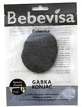 """Parfumuri și produse cosmetice Burete pentru curățarea feței, oval """"Cărbune de bambus"""" - Bebevisa Konjac Sponge"""