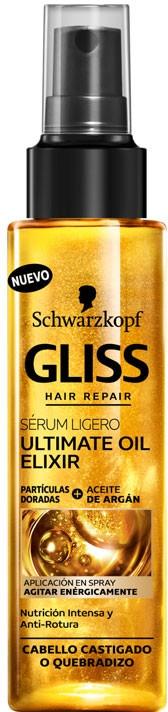 "Spray de păr ""Ultimate oil elixir"" - Schwarzkopf Gliss Kur Ultimate Oil Elixir Serum — Imagine N1"