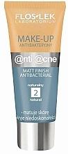 Parfumuri și produse cosmetice Cremă de matifiere, cu efect antibacterian - Floslek Anti Acne Make Up