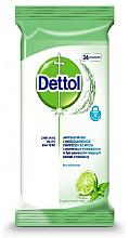 Parfumuri și produse cosmetice Șervețele antibacteriene pentru spălare și dezinfectare - Dettol Antibacterial Cleansing Surface Wipes Lime and Mint