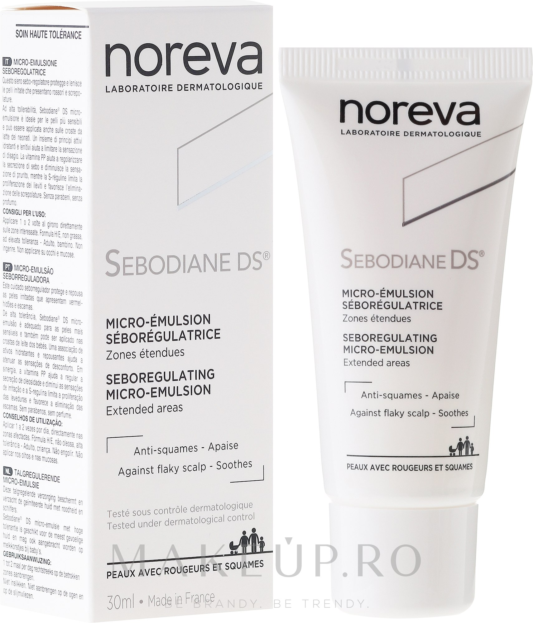 Emulsie pentru păr - Noreva Sebodiane DS Sebum-Regulating Micro-Emulsion — Imagine 30 ml