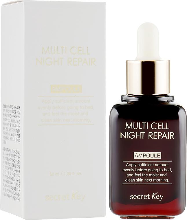 Ser de noapte - Secret Key Multi Cell Night Repair Ampoule — Imagine N1