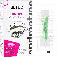 Parfumuri și produse cosmetice Set pentru corecția sprâncenelor - Andmetics Brow Wax Strips Women (strips/4x2pc + strips/4x2pc + wipes/4pc)
