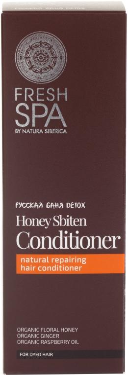 Balsam Bio pentru păr - Natura Siberica Fresh Spa Russkaja Bania Detox Natural Repairing Hair Conditioner Honey Sbiten — Imagine N2