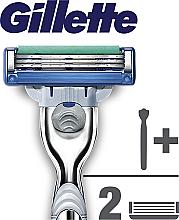 Aparat de ras clasic cu 2 casete rezervă - Gillette Mach 3 Turbo — Imagine N8