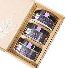 "Parfumuri și produse cosmetice Set ""Fructe de pădure"" - Nature Queen(peel/250g+b/butter/150ml+b/lotion/200ml)"