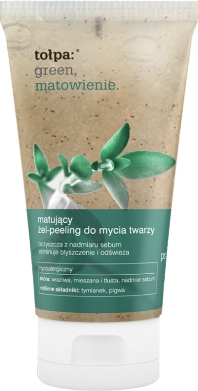 Gel scrub matifiant pentru față - Tolpa Green Mattifying Gel-Scrub