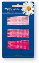 Parfumuri și produse cosmetice Cleme de păr, 30 bucăți, roz - Top Choice