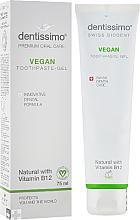 """Parfumuri și produse cosmetice Pastă-gel de dinți """"Vegan"""" cu vitamina B12 - Dentissimo Vegan with Vitamin B12"""