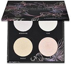 Parfumuri și produse cosmetice Paletă iluminator pentru față - London Copyright Magnetic Face Powder Highlight Palette