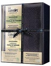 Parfumuri și produse cosmetice Set - La Corvette Douceur Bio Gift Box (soap/2x100g + towel/1pcs)