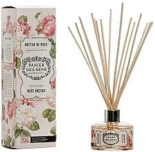 "Parfumuri și produse cosmetice Difuzor Aromatic ""Nectar roz"" - Panier Des Sens Rose Nectar Reed Diffuser"