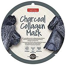 Parfumuri și produse cosmetice Mască de colagen pentru față - Purederm Charcoal Collagen Mask