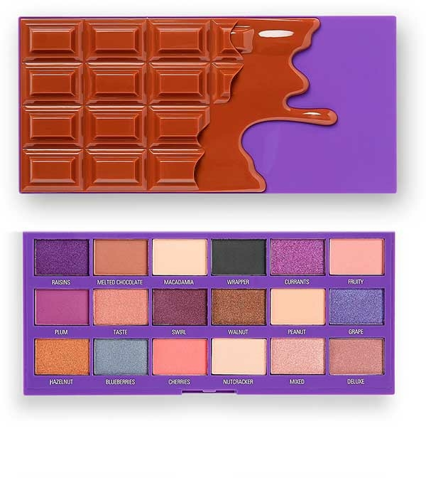 Paletă farduri de ochi - I Heart Revolution Chocolate Eyeshadow Palette Fruit and Nut
