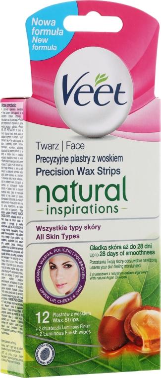 Benzi pentru epilare - Veet Natural Inspirations Face Wax Strips — Imagine N1