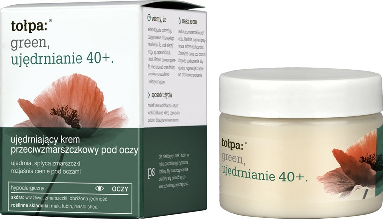 Crema antirid pentru pleoape - Tolpa Green Firming 40+ Anti-Wrinkle Eye And Eyelid Cream