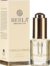 Ulei de față - Herla Gold Supreme 24K Gold Face Dry Oil — Imagine N1