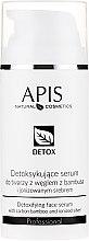 Parfumuri și produse cosmetice Ser detoxifiant pentru pielea grasă și combinată - APIS Professional Detox Detoxifying Face Serum With Carbon Bamboo And Ionized Silver