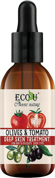 "Ser facial ""Roșii și măsline"" - Eco U Face Serum"