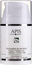 Parfumuri și produse cosmetice Ser-Peeling pentru față - APIS Professional Fit + Pirpgron + Milk + Ferulic 40%