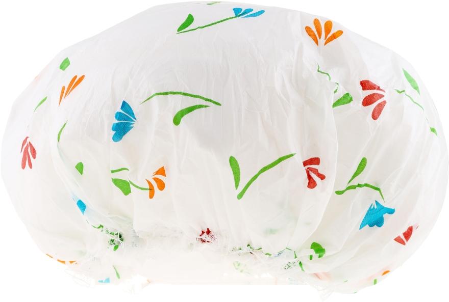 Cască de baie, 9298, alb cu flori - Donegal Shower Cap — Imagine N1