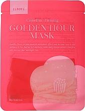 Parfumuri și produse cosmetice Mască din țesătură cu efect de întărire pentru față - Elroel Golden Hour Mask Camellia Firming
