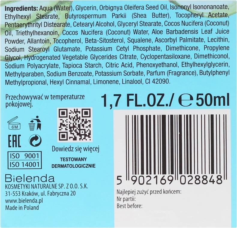"""Cremă hidratantă """"Cocos și Aloe"""" pentru pielea uscată - Bielenda Hydra Care Moisturizing Face Cream Coconut and Aloe Vera — Imagine N3"""