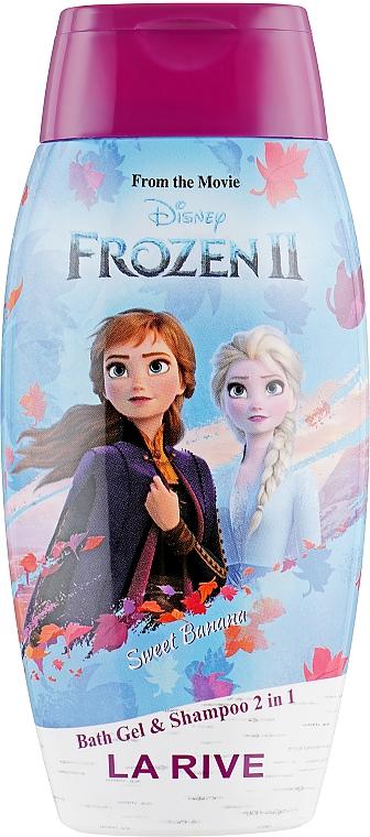 Gel de duș - La Rive Disney Frozen Bath Gel&Shampoo 2in1 Sweet Banana