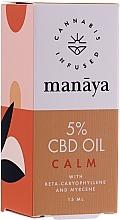 Parfumuri și produse cosmetice Ulei de cânepă - Manaya 5 % CBD Oil Calm