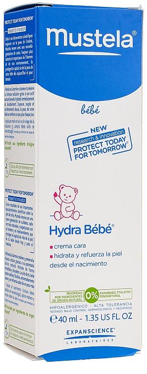Cremă de față - Mustela Hydra Bebe Visage — Imagine N3