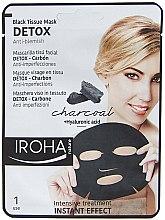 Parfumuri și produse cosmetice Mască de față - Iroha Nature Detox Black Tissue Mask Charcoal