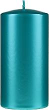 Parfumuri și produse cosmetice Lumânare decorativă, sidefată, 14 cm, turcoaz - Artman Opal Candle