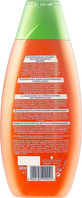 """Șampon """"Energie de cătină"""", pentru vitalitatea părului epuizat - Schwarzkopf Schauma Shampoo — Imagine N4"""