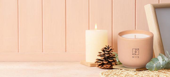 Reducere 10% la lumânările parfumate Mys. Prețurile de pe site sunt indicate cu reduceri