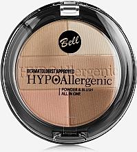 Pudră hipoalergenică cu fard de obraz - Bell HypoAllergenic Powder&Blush — Imagine N2