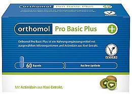 Parfumuri și produse cosmetice Vitamine probiotice + extract de kiwi (60 capsule) - Orthomol Pro Basic Plus