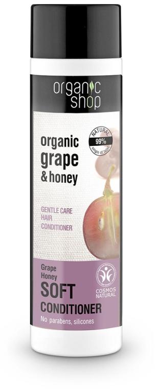 """Balsam de păr """"Îngrijire ușoară, miere de struguri"""" - Organic Shop Organic Grape and Honey Soft Conditioner"""