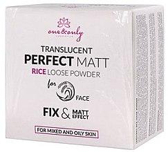 Parfumuri și produse cosmetice Pudră de față - One&Only Cosmetics For Face Translucent Perfect Matt Rice Loose Powder