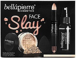 Parfumuri și produse cosmetice Set - Bellapierre Face Slay Kit Dark/Deep (stick/8.6g+powder/6.5g+spray/70ml+sponge/1pcs)