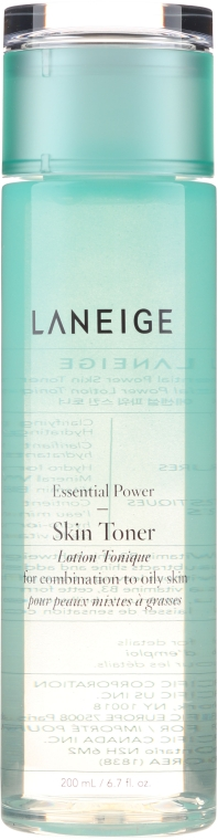 Toner pentru ten combinat și gras - Laneige Essential Power Skin Toner for Combination to Oily Skin — Imagine N2