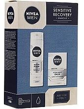 Parfumuri și produse cosmetice Set - Nivea Men Sensitive Recovery Shave Kit (sh/foam/200ml+ash/balm/100ml)