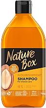 Parfumuri și produse cosmetice Șampon hrănitor cu ulei de argan - Nature Box Nourishment Vegan Shampoo With Cold Pressed Argan Oil
