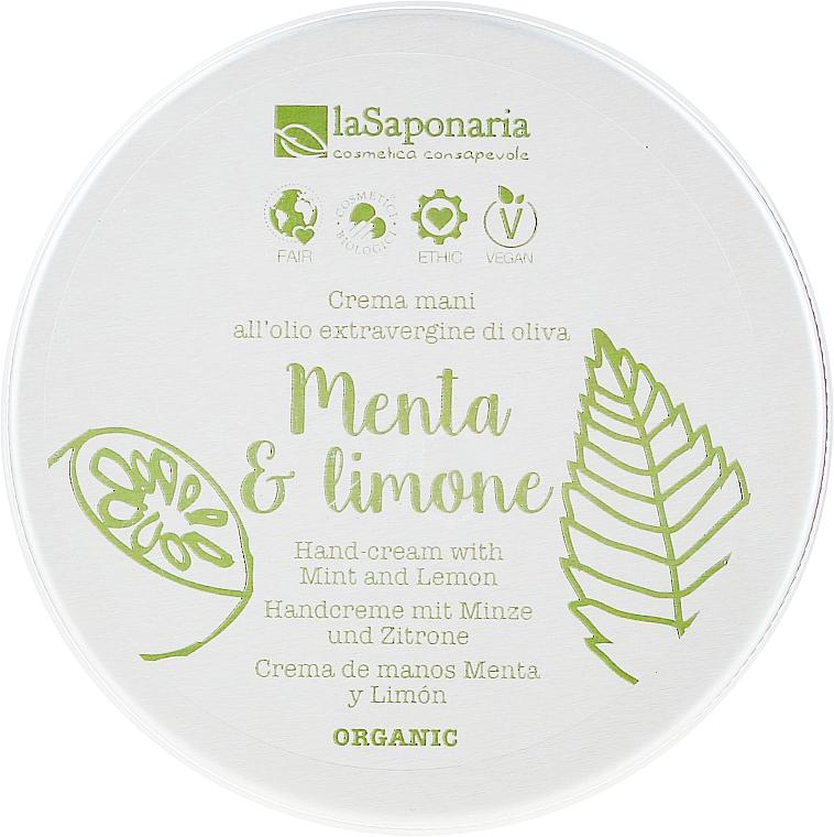 """Cremă de mâini """"Mentă ți lămâie"""" - La Saponaria Hand Cream Mint and Lemon"""