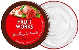 """Parfumuri și produse cosmetice Unt de corp """"Căpșune și Pomelo"""" - Grace Cole Fruit Works Body Butter Strawberry & Pomelo"""