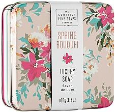 """Parfumuri și produse cosmetice Săpun de corp """"Spring Bouquet"""", în cutie de metal - Scottish Fine Spring Bouquet Soap in a Tin"""