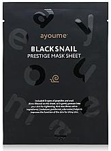 Parfumuri și produse cosmetice Mască de țesut cu extract de mucină de melc - Ayoume Black Snail Prestige Mask Sheet
