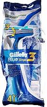 Parfumuri și produse cosmetice Set Aparat de ras de unică folosință, 4 buc - Gillette Blue 3 Simple